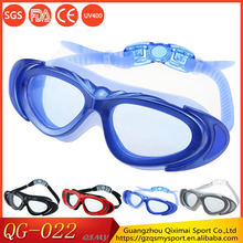 Free shipping retail anti fog large frame waterproof adult swimming goggles