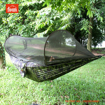Outdoor Ultralight Camping Hammock tent , Nylon Hammock With Mosquito Net