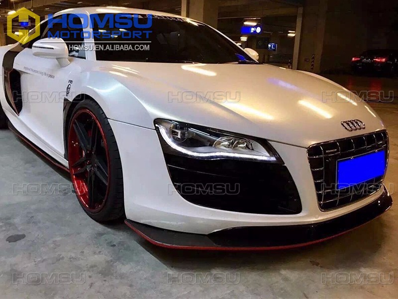 AT design kit carbon parts in stock for r8 carbon fiber diffuser/lip/spoiler