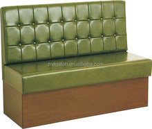 Modern green booth seating restaurant furniture with high back recline seating (FOH-CBCK66)