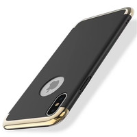 Newest 3 in 1 Electroplate Bumpers PC Fashionable Back Cover Phone Case for iPhone X