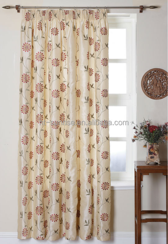 embroidery kitchen curtain patterns made in china