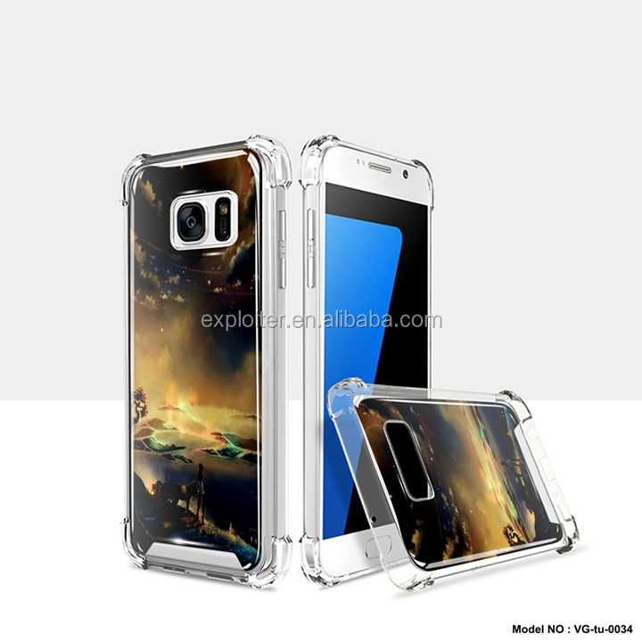 Wholesale air cushion mobile phone case gel resin for samsung galaxy s7 edge case