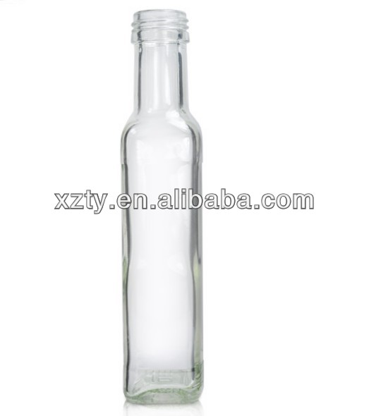Dressing Bottle , Clear Glass Square Dressing Bottle 142ml (28mm Neck)