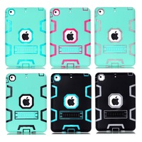Dual Layer Hybrid Kickstand Case Back Cover For ipad mini 1/2/3