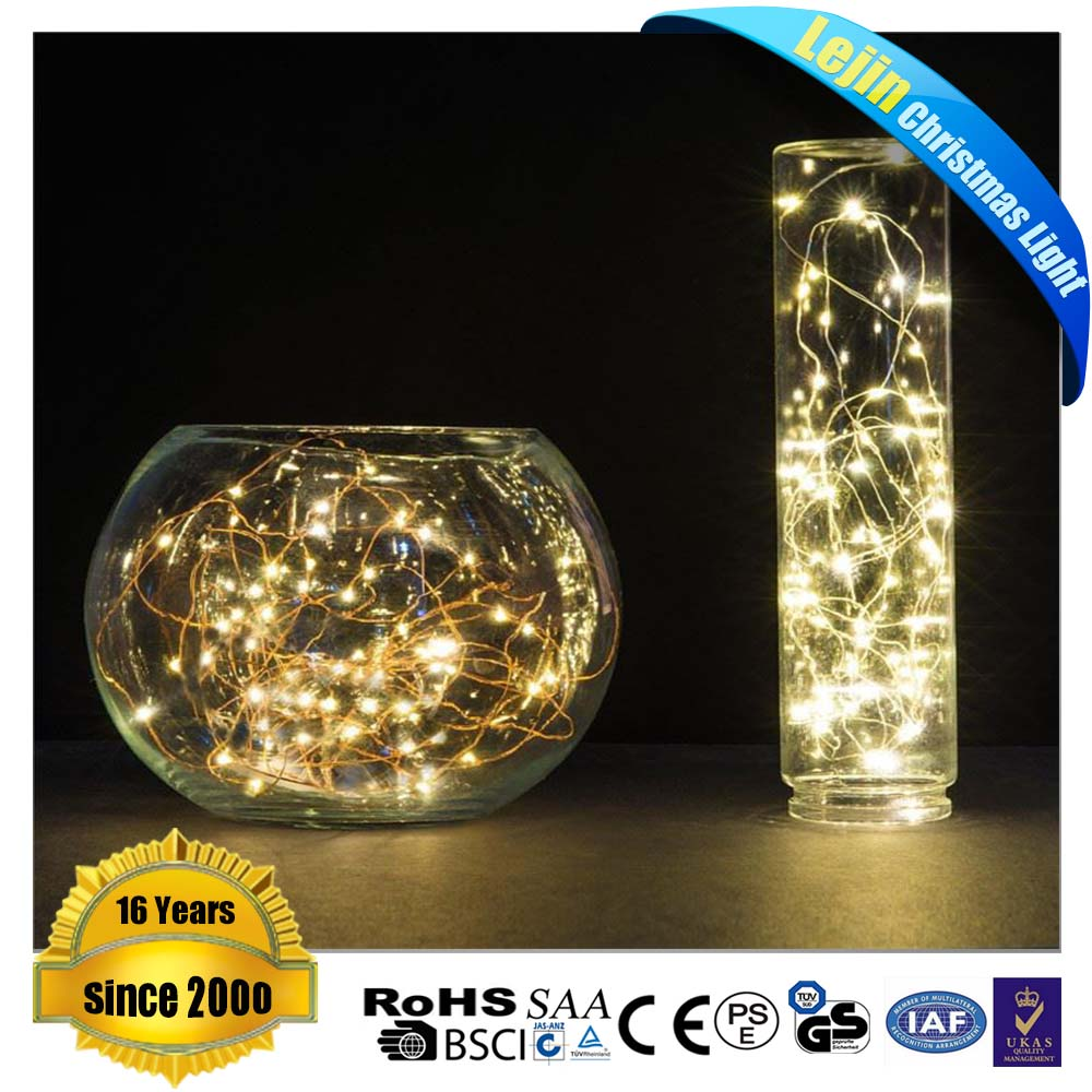 New Year yellow battery operated mini led lights for crafts With low price indoor decoration