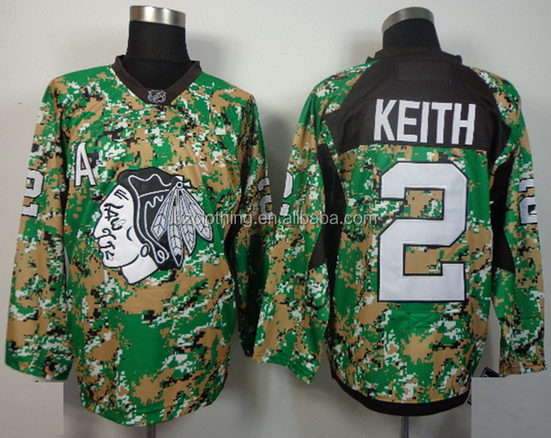 Chicago Blackhawks Duncan Keith #2 Camouflage NHL Hockey Jersey