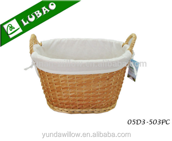 Baby Gift Basket With Liner Rattan Wicker Baskets