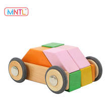 MNTL-46 Pieces 3D Magnetic Puzzle Wooden Blocks Kid's Magnet Toy Factory Sales Wooden Educational Toys For Toddlers