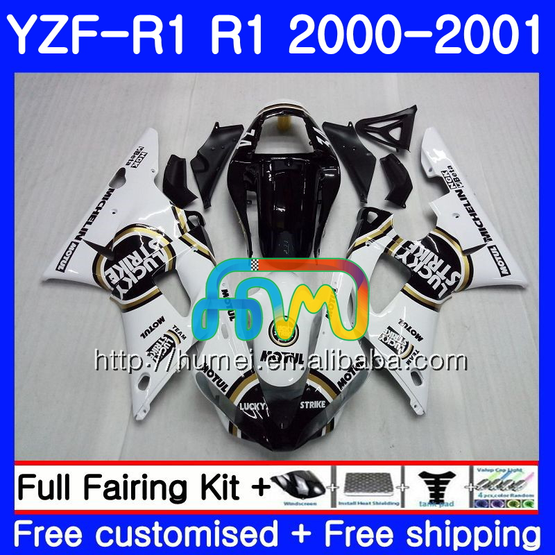 Body For YAMAHA YZF R 1 YZF 1000 YZF-<strong>R1</strong> <strong>00</strong>-<strong>01</strong> Lucky Strike Bodywork 98HM20 YZF1000 YZF-1000 YZF <strong>R1</strong> <strong>00</strong> <strong>01</strong> YZFR1 2000 2001 Fairing