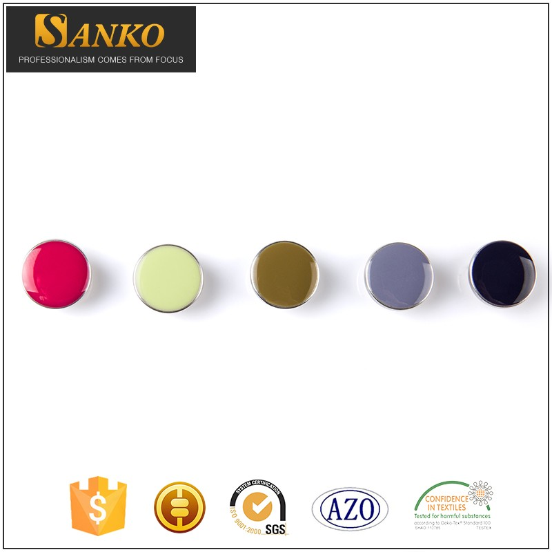 Wholesale 10-25 mm custom ladies clothing different colors rubber shell snap button