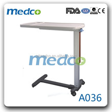 Medco A036 hospital patient dining table, hospital bedside tray table, hospital over bed table