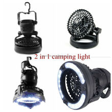 2 In 1 Tent Ceiling Fan LED Camping Lantern Ceiling Fan with 18 LED Emergency Light