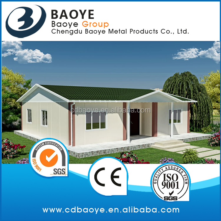 Manufacturer of 2017 Baoye prefabricated house sandwich panel plan cheap price