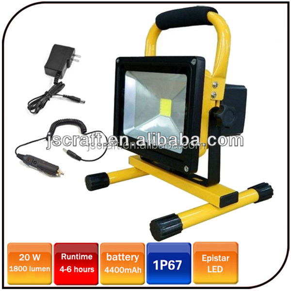 Warranty 2 Year Epistar 20w Portable Led 12V Work Lights Led Emergency Rechargeable Floodlight