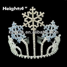 4 inch Snowflake Christmas Crowns and tiaras with hair comb