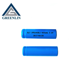 High quality 3.2v 400mah 14430 lifepo4 cylinder battery cell