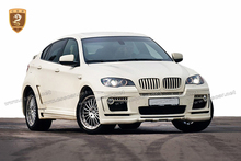 X6 E71 wholesale bodykits for BM*W 4 output upgrade HM fiberglass body kit