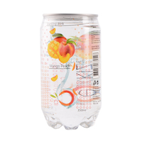 Natural fruit mango peach mix flavored carbonated soft beverage drink