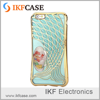 Shockproof 3D mermaid design beautifuly border electroplating processing mobile phone soft tpu case for iphone 5