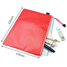 Promotion cheap durable waterproof nylon zipper file pouch