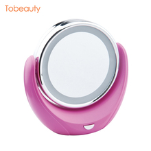 New Hot Simple Design Makeup Desktop Electric Magnifying Makeup Mirror