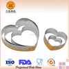 Pastry Gadget Heart Shaped S/S and Al.Alloy (anodized)Mousse Ring