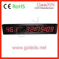 "Mini cheap car 9 digit 1.8"" led calendar clock"
