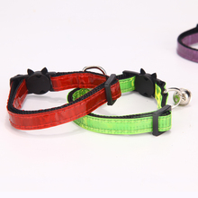 Dog Collar Light Bulk Safety Buckle Cat Collar Bell Cat Face