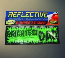 high quality reflective bumper sticker for car
