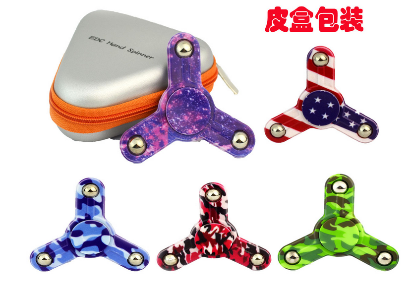 Wholesale Long Time Tri-Spinner Caps Toys Hand Finger Spinners Gift