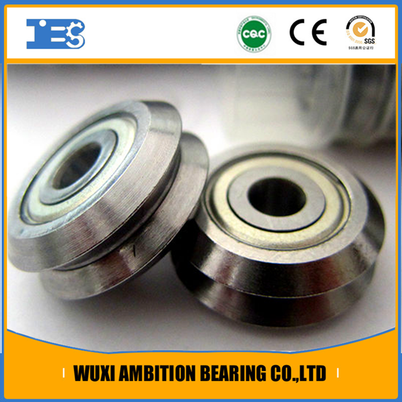 High performance W1X RM1-2RS v groove guide wheel bearings
