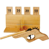 Wooden toy gun rubber band gun