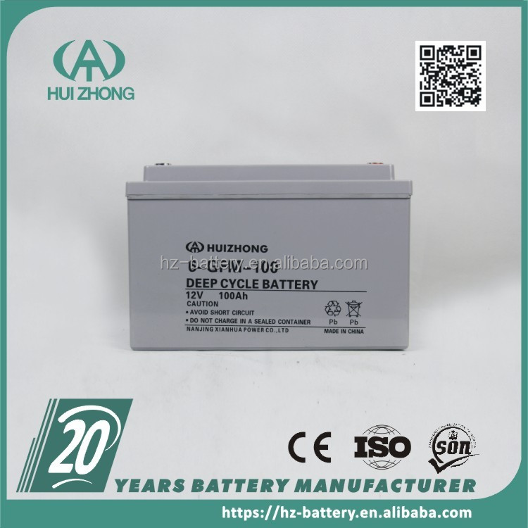 12v SLA battery, 12v 100ah deep cycle AGM lead acid battery