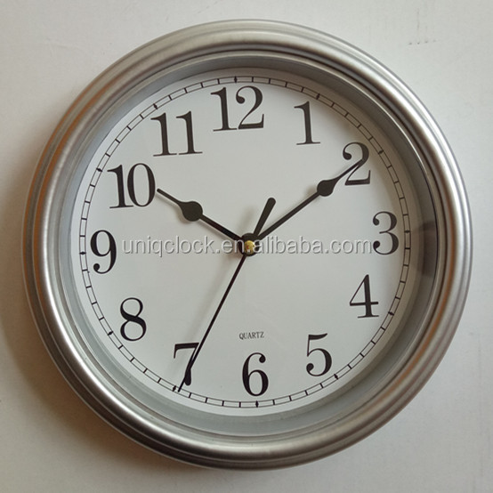 9 inch plastic restore ancient simple four color wall clock