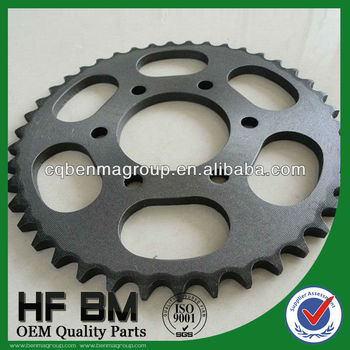 1045 Steel Bajaj Discover Sprockets Galvanized Motorcycle Transmissions, Motor Bike Pinions Bajaj China Manufactory