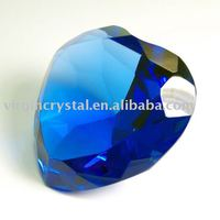 Crystal Heart Shape Diamonds in Blue