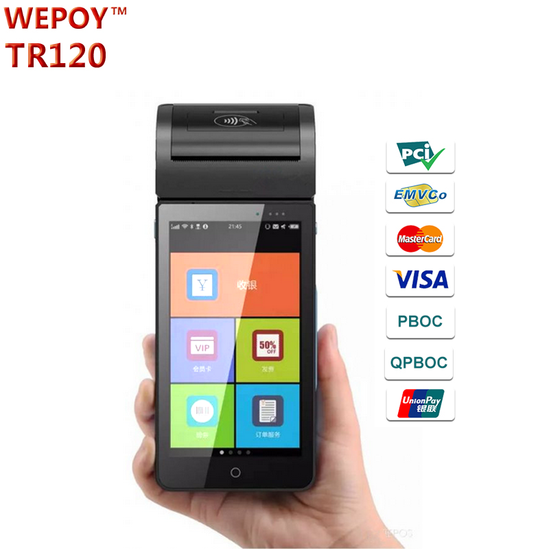 Portable EMV PCI Android Pos Terminal With Swipe Card payment