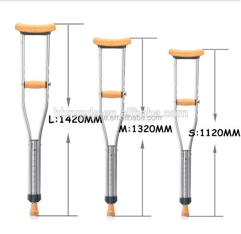 disabled walking sticks underarm aluminum crutch