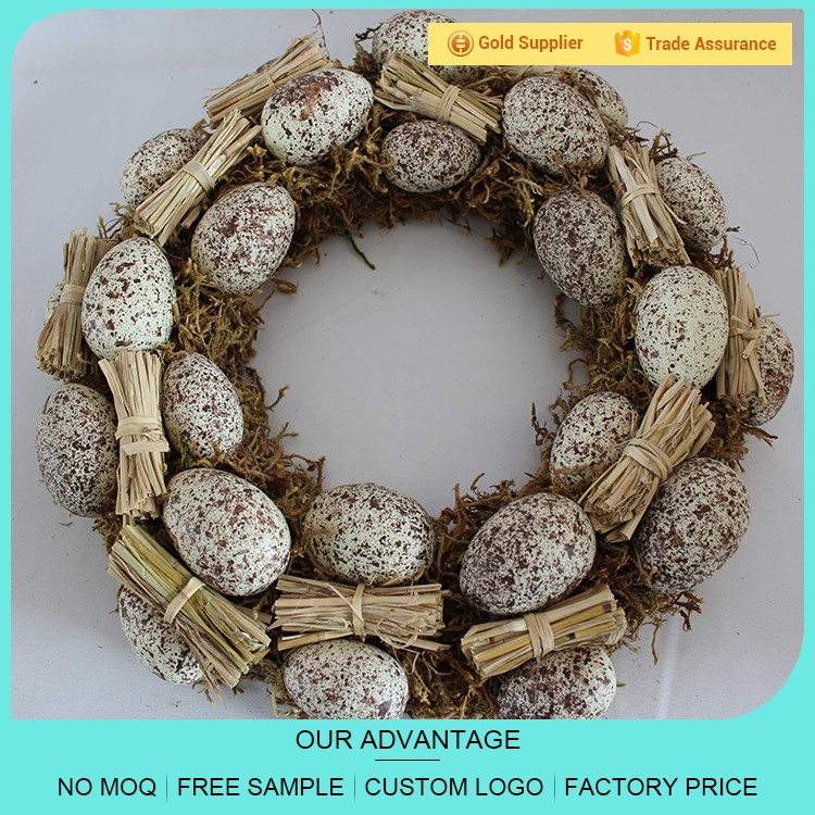 Cheap price 40 cm easter egg wreath for spring