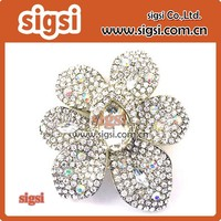 metal fashion wholesale Rhinestone Flower Brooch