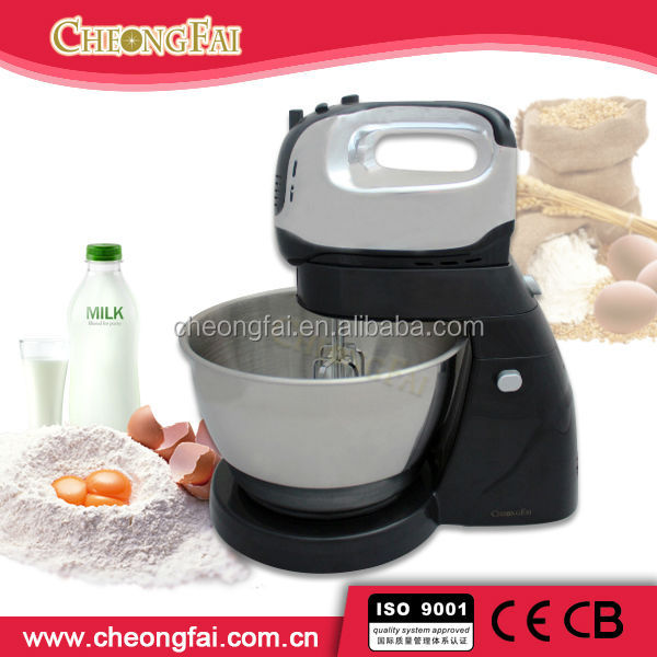 Black Chrome Plating 4L Large Stainless Steel bowl Food Mixer