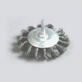 Shaft wheel brushes
