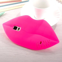 Soft Pink Silicone For Samsung Galaxy S4 I9500 Lips Shaped Case Cover For Samsung S4 Silicone Red Mouth