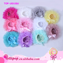 Summer lovely Shorts Chiffon Ruffle Diaper Cover Baby Girl Tutu Skirts Bloomers