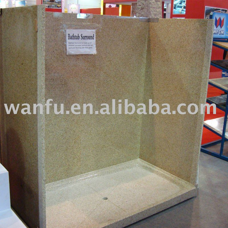 Golden Peach Granite Shower Surrounds