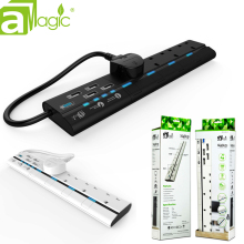 aMagic Power Strip UK Surge Protector Power Strip with 4 USB for Smart Phone, 13A 2600W 4-Outlet Extension Socket Charger