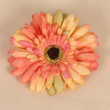 Wholesale DIY Home wedding decoration flower accessory wall customized daisy silk gerbera flower artificial flower heads