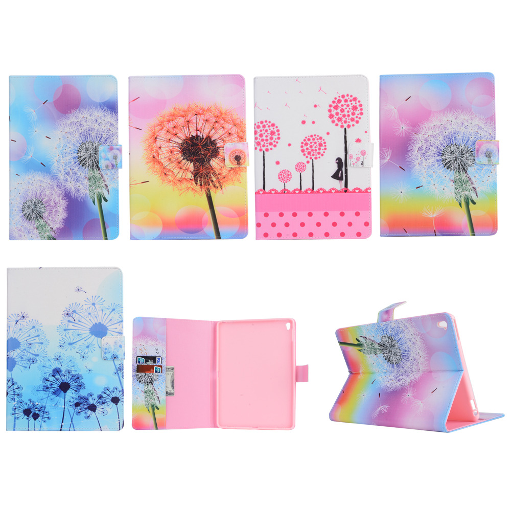 Dandelion pattern style Folio tablet cover case for ipad pro 9.7,tablet carry case with stand
