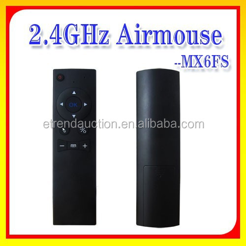 Newest Single Face Six Axis 2.4G Wireless Air Mouse Air Remoter Control